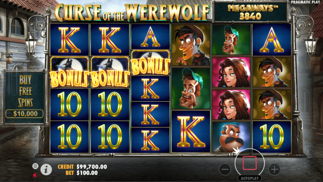 Curse of the Werewolf Megaways™ Video Slot