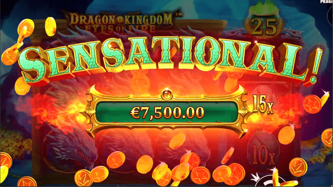 Dragon Kingdom Eyes Of Fire Video Slot Sensational Win
